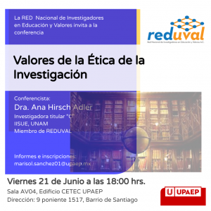 Conferencia: Valores de la Ética de la Investigación